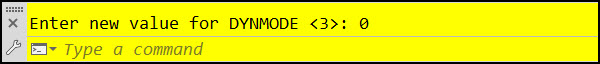 Turn AutoCAD Dynamic Input Off - DYNMODE = 0